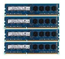 4x for SK Hynix 4GB 2Rx8 PC3-10600U DDR3 1333MHz 240PIN DIMM Desktop Memory RAM