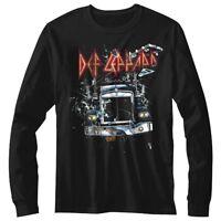 Def Leppard On Through the Night Men's Long Sleeve T Shirt Rock Band Album Merch