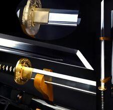 Chinese Sword Straight knif Tang Dao pattern steel sharp Blade Wood Sheath #3909