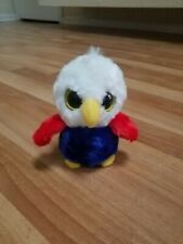 "Aurora YooHoo & Friends Owl Plush Bird 5"" Stuffed Animal Red White Blue Yellow"