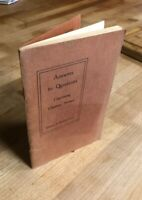1st Ed Rare - Edward A Kimball Answers To Questions Concerning Christain Science