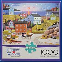 jigsaw puzzle 1000 pc Whaler's Bay Wysocki Americana Buffalo Games