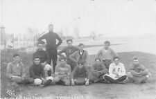 1908 Battle Creek Iowa IA BCHS High School Football Team Players Named RPPC PC