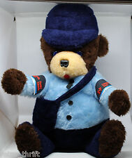 """Canada Post Montreal Mighty Star 16"""" Plush Bear 1986 Vintage No hat or bag badge"""