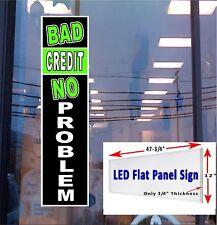 LED Sign BAD CREDIT NO PROBLEM 48x12 window sign