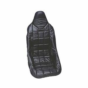 Summit Racing CSUM101 Seat and Cover Combo Highback Black Vinyl Polyethylene Set