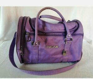 Retro Vintage Head Sports Bag Black Travel Hold-all / Gym Bag Purple