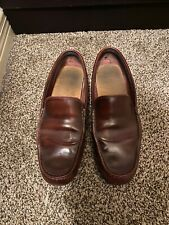 Lacoste Burgundy Leather Dress Casual Moc Toe Driving Loafers Shoes Men's 8.5