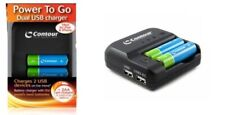 Dual USB Charger On The Move Ideal For iPad & iPhone NEW