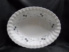 "Royal Doulton Millefleur, Gray & Blue Flowers: Oval Serving Bowl, 10 5/8"""