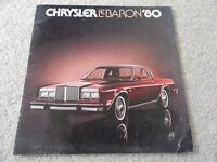 1980 Chrysler LeBaron Sales Brochure