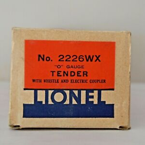 LIONEL RARE PREWAR NO. 2226WX TENDER BOX ONLY LOT T