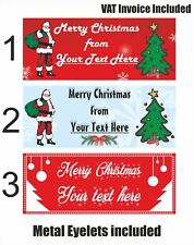 Personalized Christmas (XMAS) PVC Vinyl Waterproof Banner Available in 70 Sizes