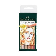 FABER-CASTELL Indiano Inchiostro PITT ARTIST PEN - 6 BOX toni della pelle # 167162