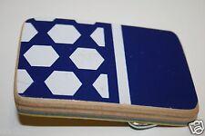 Vintage Blue & White Wooden Skateboard Deck Skater Custom Belt Buckle