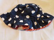GRAND SIERRA BABY GIRL RUFFLE BUCKET HAT 12-18 4TH OF JULY RED BLUE WHITE DOT