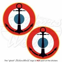 "FRANCE French Naval Aviation Roundels NAVY Vinyl Decals Stickers, 3"" (75mm) x2"