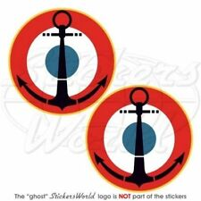 """FRANCE French Naval Aviation Roundels NAVY Vinyl Decals Stickers, 3"""" (75mm) x2"""