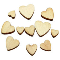 Wooden Mini Mixed Heart Embellishments Craft Decor Cardmaking Scrapbooking New
