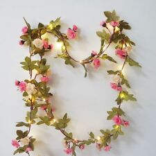 Fairy String Light Lovely Rose Flower Garland with 30 LED Copper Home Decoration