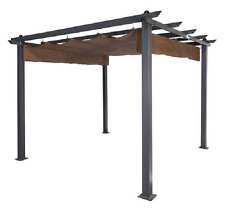 Garden Metal Pergola Large 9x9 Outdoor Shade Vineyard Arbor Patio Decor Canopy