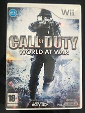 jeu wii call of duty world at war