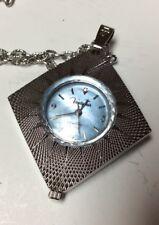 Vanity Fair Diamond Quartz pendant watch,asymmetrical shape,very clean,runs L860