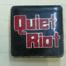 QUIET RIOT 3 VINTAGE METAL LAPEL PIN NEW FROM LATE 80'S HEAVY METAL WOW