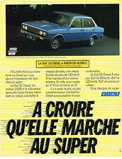 PUBLICITE  ADVERTISING  1980   FIAT 131 DIESEL