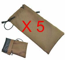 5 pcs Sunglasses coffee soft cloth Bag Pouch Case for bulk sale
