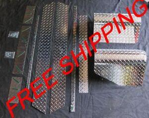 97-06 JEEP TJ WRANGLER FULL DIAMOND PLATE KIT FREE SHIP GREAT DEAL ONLY $195.99