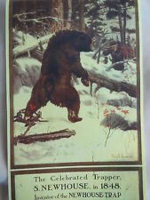 Newhouse Traps Advertising Poster Art By Philip R. Goodwin Bear In Bear Trap