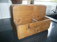 COUNTRY FARMHOUSE KITCHEN TOOL STORE/UTENSILS/RACK/STAND~RUSTIC WOODEN DISPLAY