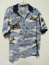 Kalaheo Hawaiian Shirt WWII Aircraft Print on HA Scenes Made in HA Styled by RJC