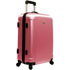 "Traveler's Choice Pink Freedom 25"" Ultra Lightweight Spinner Suitcase Luggage"