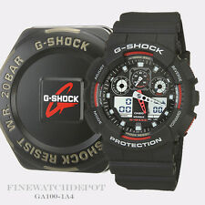 Authentic Casio G-Shock Men's X-Large Sports Red& Black Digital Watch GA100-1A4