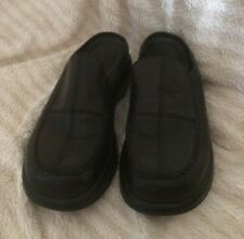 Dansko Classic Loafers Slip On Black Leather Clogs Sz 41 US 8 Mens Free Shipping