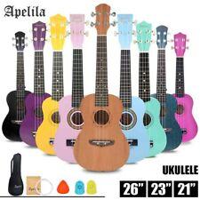 "Apelila 21""/23"" Soprano Ukulele Acoustic Guitar Hawaii Music Instrument Beginner"