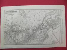 1920 CANADIAN PACIFIC RAILWAY SYSTEM MAP (EASTERN) DEPOT LOCATION 97 YEAR OLD