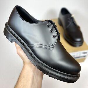Dr. Martens 1461 Mono Black Smooth Leather Men's Shoes Size 8 Women's Size 9