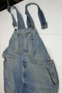 Big Smith 42 x 28  Denim Jean Bib Overalls - Missing Shoulder strap latch #H1695