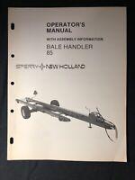 New Holland Operator's Manual Bale Handler 85 *602
