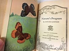 "Vintage 1926 ""Nature's Program"" Book"