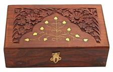 Wooden Jewellery Box for Women Wood Jewel Organizer Hand Carved Gift