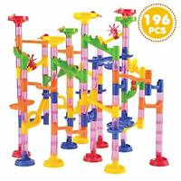 JOYIN 196 Pcs Marble Run Compact Set, Construction Building Blocks Toys, STEM
