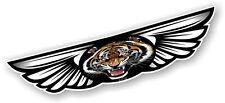 Winged Wing Emblem & Bengal Tiger Flag for Motorcycle Helmet Vinyl Car sticker