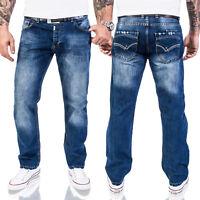 Lorenzo Loren Designer Jeans Hose Herrenjeans Regular Fit Blau W29-W44 LL-324