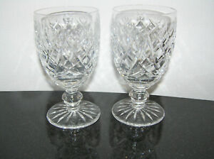 BEAUTIFUL PAIR OF WATERFORD CRYSTAL PORT SHERRY WINE GLASSES AVOCA CLEAR 12cm