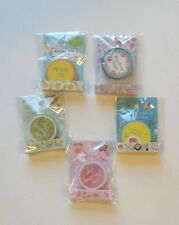 New Set of 5 Masking Tapes Flowers Japanese Foods Fruits Rolls Craft Wrapping