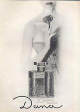 1962 Dana 20 Carats Perfume Vintage Bottles PRINT AD